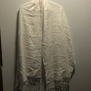 White Le Chateau Scarf/Wrap